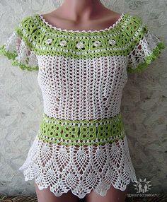 168495068387 (7) (396x480, 71Kb) Black Crochet Dress, Crochet Jacket, Crochet Blouse, Crochet Top, Diy Crochet Projects, Crotchet Patterns, Crochet Fashion, Crochet Designs, Crochet Clothes