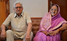 Govindlal Vora with wife prakash vora Sari, Politicians, Brother, Fashion, Saree, Moda, Fashion Styles, Fashion Illustrations, Saris