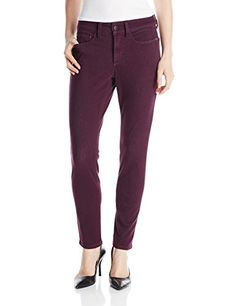 NYDJ Womens Petite Alina Legging Fit Jeans In Aubergine 0 Petite * Want additional info? Click on the image.