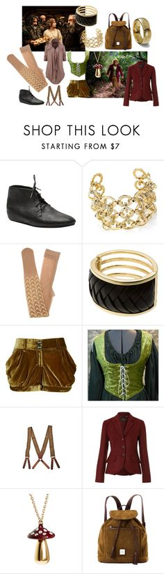 """""""An Unexpected Journey"""" by thesnakeden ❤ liked on Polyvore featuring Baggins, Calleen Cordero, Rare London, Gal Stern, Libertine, Armani Exchange, River Island, EASTIE, Weekend Max Mara and Pieces"""