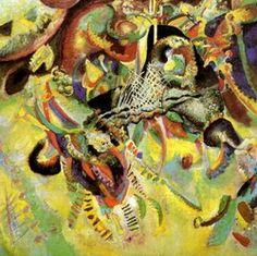 Painter Wassily Kandinsky. Fugue. 1914