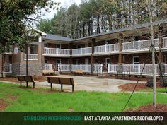 We just completely renovated Stanton Crest Apartments in East Point. 24 units of 2-bed, 1-bath. Details at www.andpi.org/stanton