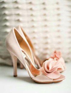 VINTAGE DIOR shoes, pastel wedding, pale pink wedding