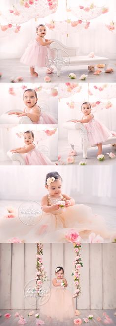 First Birthday | Floral | TuTu| Girly - Could totally tie these aspects into the #CarouselBackdrop <3