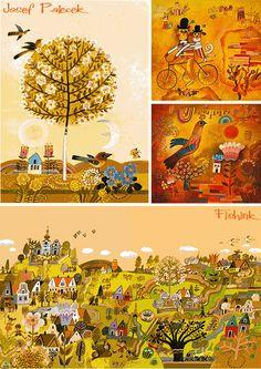 JOSEF PALEČEK Czech Illustrator from the 1960′s via Fishinkblog