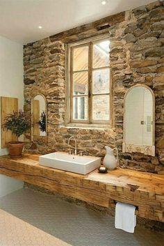 20 Extra Rustic Bathroom Designs 10