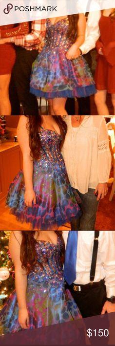 Mermaid Jovani sweet 16 dress! Multi color Jovani dress great for a sweet 16!! Jovani Dresses Prom
