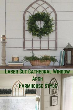 Laser cut cathedral window arch | Farmhouse style | Rustic | #ad