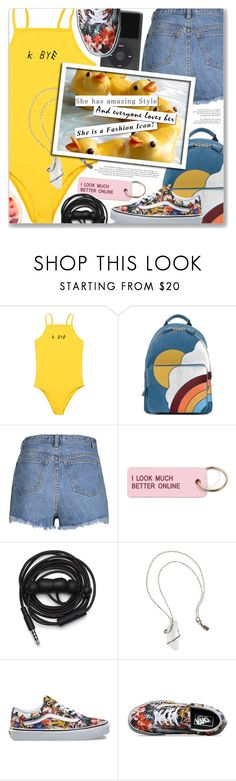 """""""Boa Noite, Tropkillaz"""" by blendasantos ❤ liked on Polyvore featuring Anya Hindmarch, Various Projects, Urbanears, Pamela Love and Vans"""
