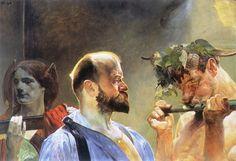 "artist-malczewski: "" Law, 1903, Jacek Malczewski Size: 98x69.5 cm Medium: oil, panel"""