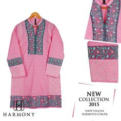 Cambric kurta with screen printed center pannel and embroidered side pannels with embroidered organza borders.   Buy Now: http://harmony.com.pk/…/ladies-embroidered-and-printed-kur…/  #newarrivals #harmony #harmonypakistan #fashion