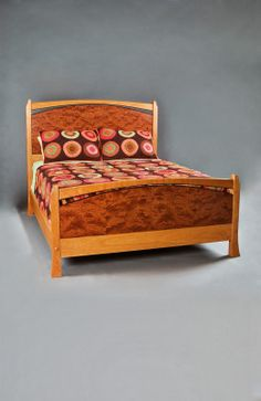Pinnacle bed by John Lomas Custom Furniture, a member of the Guild of Vermont Furniture Makers.