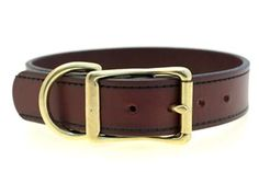 This deep brown faux leather dog collar is some seriously spiffy dog stuff! And it's vegan too!