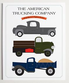 Take a look at this ModernPOP The American Trucking Company Wall Art by Make Room for Baby Collection on #zulily today!