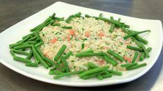 Ein tur til Italia betyr og eit møte med den italienske risottoen. Men det går fint an å lage ein smak av Italia heime på kjøkkenet. Oppskrifta får du her. Green Beans, Risotto, Vegetables, Den, Food, Italia, Meal, Essen, Vegetable Recipes