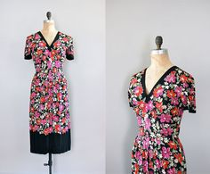 1930s/40s Hothouse Flowers dress