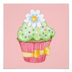 Cupcake Poster - SRF- Copy and paste please: http://www.zazzle.com/sharonrhea?rf=238102717089006821