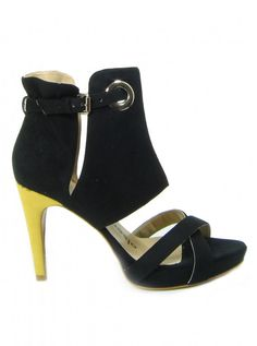 Olsenhaus Yellow Heeled Vegan Shoe Boots, £230 #Fairtrade #Fashion