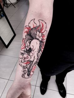 Japanese fox tattoo by Chestnut tattoo