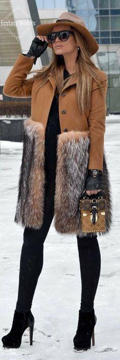 Caramel Coat by @ubyuatelier // Fashion Look by Rita Tesla