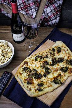 Movie Night with Cambria Wines: Chicken-Broccoli Alfredo Pizza and Maple-Chili Popcorn (recipe) / by Katie at the Kitchen Door