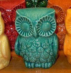 Hootie Hoot Hoot - Ceramic Owl Figurine   -  Sea Mist Green by CeramicsbyLisa for $14.95