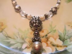 Freshwater Pearl and silver necklace by StoneworksByJan on Etsy, $45.00