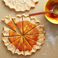 Here's a golden cookie idea: Pair brown sugar with pumpkin pie spice. These two holiday essentials mingle perfectly in light and crisp cookie wedges. Smear with caramel topping for sweet bakery appeal./