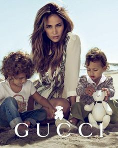 Jennifer Lopez's twins, Max and Emme, 6 The singer posed with her kids (their father is Marc Anthony) for a spring 2011 Gucci children's campaign.