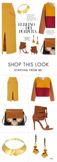 """Colour Block Sweater"" by betterthanbalmain ❤ liked on Polyvore featuring Topshop, Philosophy di Lorenzo Serafini, Chloé, Steve Madden, Alexa Starr, Magdalena, Industrie, Fall, contest and contestentry"