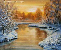 Zima - zachód słońca Lidia Olbrycht