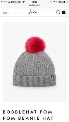 36c1f677ffc Bobble hat beautiful. joanna teasdale · JOULES · Amelia Jane London Oatmeal  Hat With Brown Faux Fur Pom ...