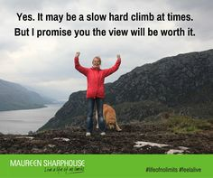 Yes. It may be a slow hard climb at times but I promise you the view will be worth it.
