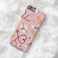 iPhone 6 Cases | Nurse Love Pink Background iPhone 6 Case