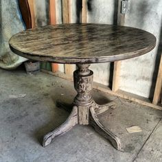 Shabby chic round dining table 40""
