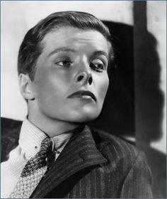 Katharine Hepburn dressed as a boy in the movie 'Sylvia Scarlett'.