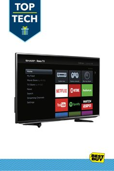 Sharp LC-43LB371U LED Roku TV: This Roku TV lets you connect to over 2,000 streaming channels for an enormous variety of entertainment. With apps like Netflix and Hulu Plus at your fingertips — as well as a customizable, easy-to-use home screen — enjoying your favorite movies, TV shows and more is simple.