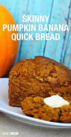 Delicious pumpkin banana quick bread!