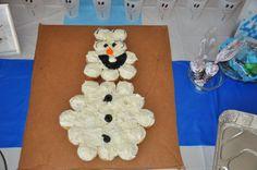 Olaf party - Olaf cupcake cake