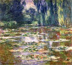 Claude Monet - The bridge over the water lilies pond 1904-05