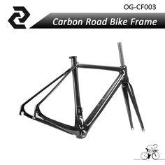 2017 OG-CF003 hot selling carbon road bicycle frame clear coating 3k weave