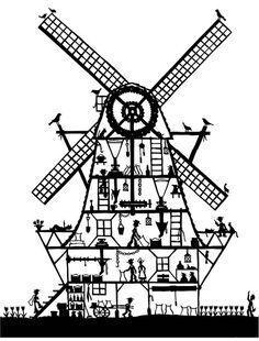 Suzy Taylor - Windmill papercut.