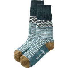 SmartWool Popcorn Cable Socks look cozily classic, but their performance is totally high-tech. Their Wool-on-Wool technology absorbs shock with every step. Crochet Socks, Knitting Socks, Womens Wool Socks, Duluth Trading Company, Hiking Socks, Cozy Socks, Sock Shoes, Cashmere, Clothes For Women