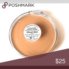 Merle Norman Total Finish - creamy beige Brand new unused tester.  Same size as original merle norman Makeup Foundation