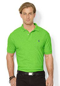 Polo Ralph Lauren Classic-Fit Mesh Polo Shirt - Don't forget to wear green on St. Patrick's Day!