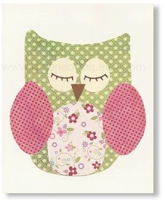 girl nursery owl