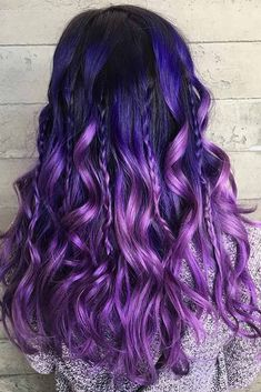 33 Cool Ideas of Purple Ombre Hair – Hair style Dark Purple Hair, Purple Ombre, Hair Color Purple, Cool Hair Color, Dark Hair, Ombre Hair Lavender, Hair Color For Kids, Violet Hair Colors, Purple Stuff