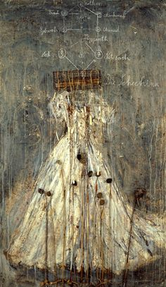 """Shekinah , work created in 1999 by the German artist Anselm Kiefer, was sold on 28 May 2015 in an auction, in Lisbon, for 620,000 euros. - A record for Portugal, according to Veritas Art Auctioneers auction """"is the work of modern art and contemporary most valuable ever sold in Portugal, """"avers Veritas, indicating that it was acquired by a Portuguese collector and Shekinah , an oil on canvas with acrylic, lead and aluminum wire,  came from a private Portuguese collection"""