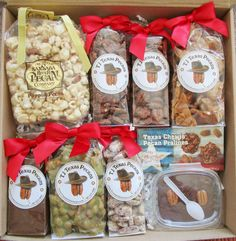 The pecan lovers snack time gift box is the perfect gift for a family or office to be shared. Just open the gift box and start eating!