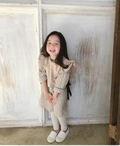 Cute Asian Babies, Korean Babies, Asian Kids, Cute Korean Girl, Cute Babies, Outfits Niños, Kids Outfits, Asian Fashion, Kids Fashion